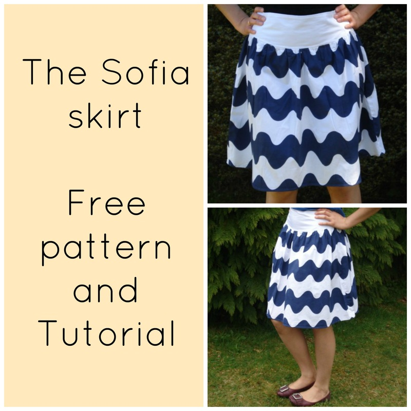 how to make a skirt, skirt sewing pattern, free sewing pattern, free printable sewing pattern, free pdf pattern