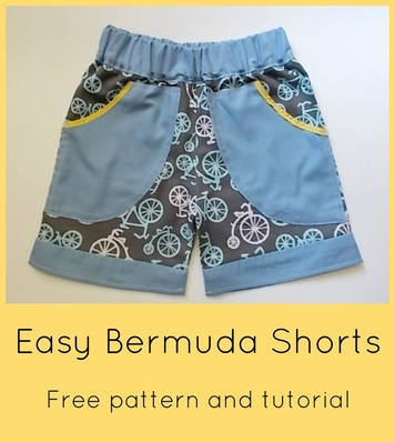 free sewing patterns, free printable patterns, free tutorials online, free shorts patterns, how to make a short, blog