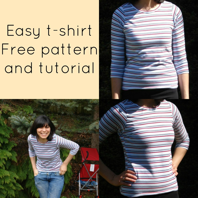 how to make a t-shirt, t-shirt sewing pattern, free sewing pattern, free pdf sewing pattern, free sewing pattern for beginners, free sewing patterns to download