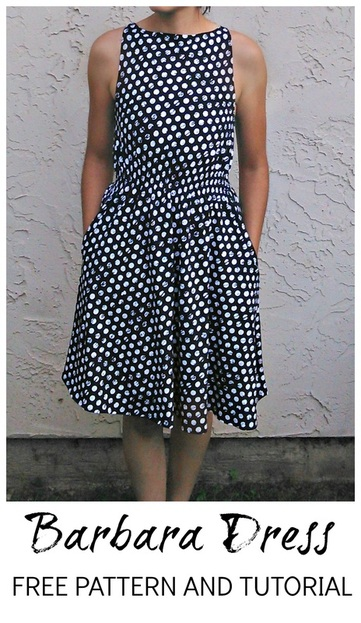 Barbara dress pattern - FREE SEWING PATTERNS AND TUTORIALS | On ...
