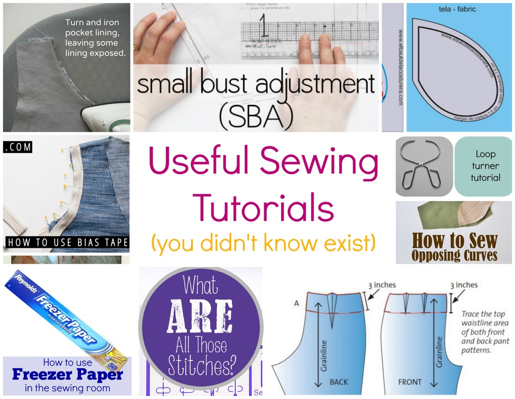 sewing 101, sewing tutorial, learn how to sew, sewing ideas, how to use bias tape, how to add inseam pockets, how to sew opposing curves, how to make a small bust adjustment, stitches tutorials, how to use freezer pattern in sewing,