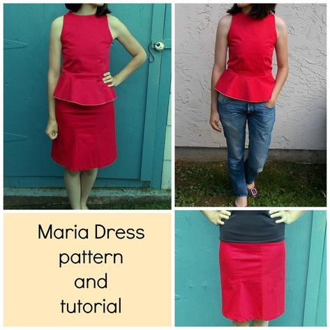 FREE SEWING PATTERNS AND TUTORIALS | On the Cutting Floor - Maria ...