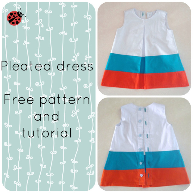 Free pleated dress tutorial and pdf printable pattern online - FREE ...
